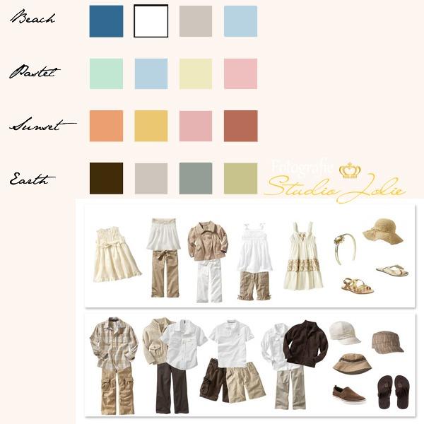 Kleurenschema kleding fotoshoot in fotostudio