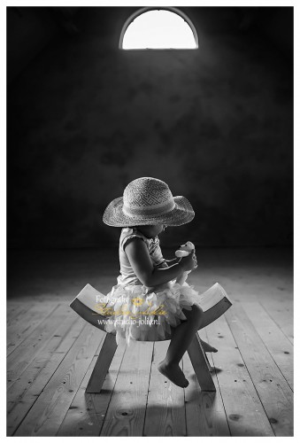 kinderfotoshoot zwart wit