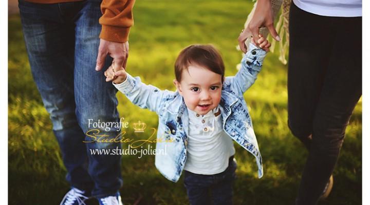 Familie fotoshoot buiten