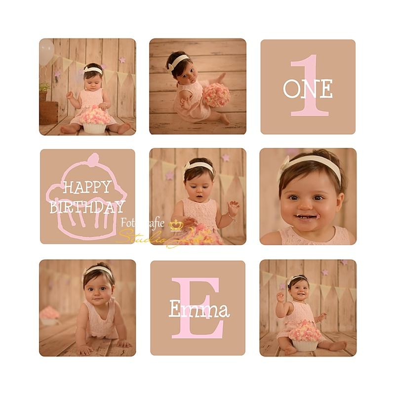 Fabulous fotoshoot 1 jaar-Fotografie studio jolie Cakesmash fotoshoot &QF01