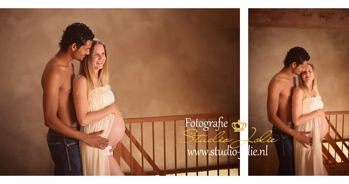 Fotoshoot zwangere buik