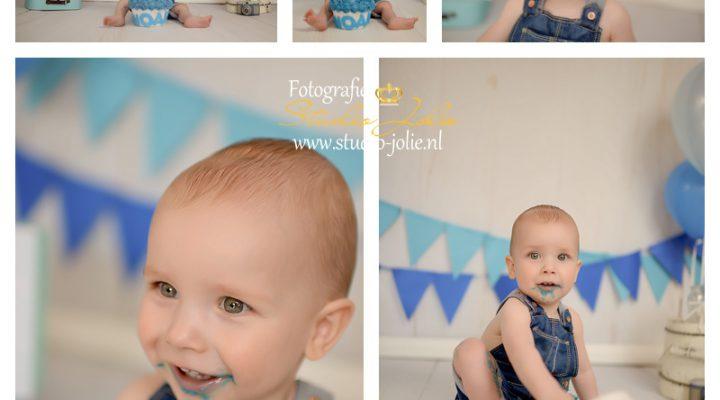 Cakesmash fotoshoot blauw