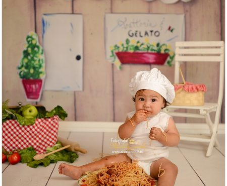 Spaghetti smash fotoshoot
