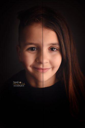 portret 2 in 1 broer en zus