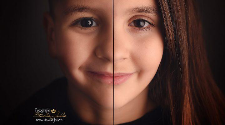2 in 1 portret kinderen broer en zus