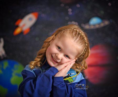 Astronauten fotoshoot thema ruimte