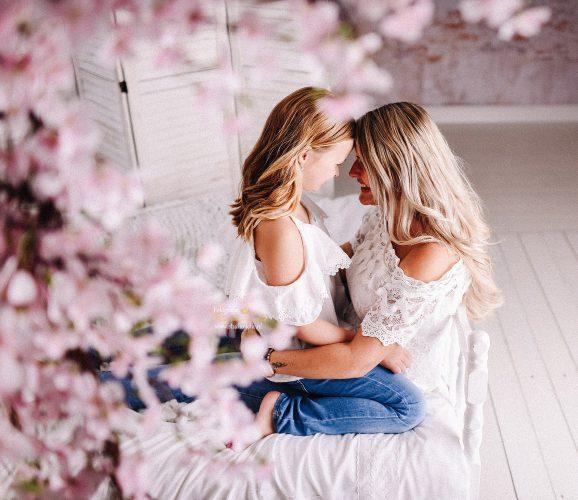 Moeder en kind moederdag fotoshoot