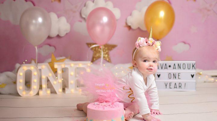 eerste verjaardag fotoshoot