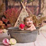 verjaardagfotoshoot baby