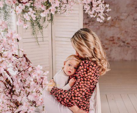 Gezinsfoto met baby